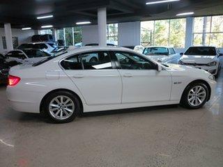 2012 BMW 5 Series F10 MY0712 520i Steptronic White 8 Speed Sports Automatic Sedan