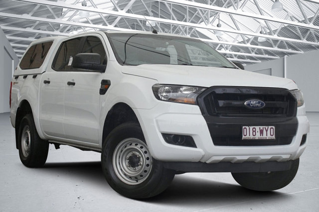 Used Ford Ranger PX MkII XL 2.2 Hi-Rider (4x2) Eagle Farm, 2016 Ford Ranger PX MkII XL 2.2 Hi-Rider (4x2) White 6 Speed Automatic Crew Cab Pickup