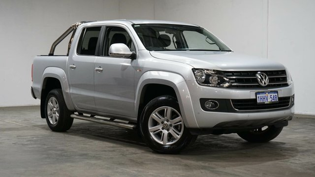 Used Volkswagen Amarok 2H MY16 TDI420 4Motion Perm Highline Welshpool, 2015 Volkswagen Amarok 2H MY16 TDI420 4Motion Perm Highline Silver 8 Speed Automatic Utility