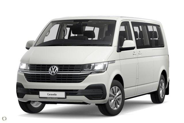 New Volkswagen Caravelle T6.1 MY21 TDI340 LWB DSG Trendline Botany, 2021 Volkswagen Caravelle T6.1 MY21 TDI340 LWB DSG Trendline White 7 Speed
