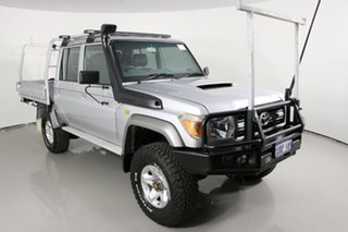 2013 Toyota Landcruiser VDJ79R MY12 Update GXL (4x4) Silver 5 Speed Manual Double Cab Chassis