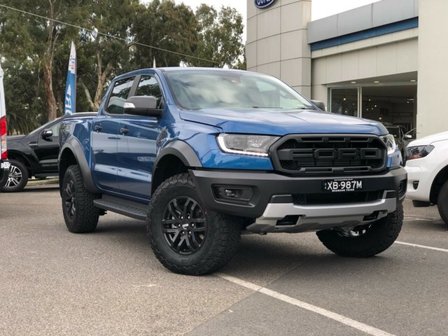 Demo Ford Ranger PX MkIII 2021.25MY Raptor Port Adelaide, 2021 Ford Ranger PX MkIII 2021.25MY Raptor Performance Blue 10 Speed Sports Automatic