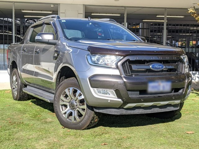 Used Ford Ranger PX MkII Wildtrak Double Cab Victoria Park, 2016 Ford Ranger PX MkII Wildtrak Double Cab Silver 6 Speed Sports Automatic Utility