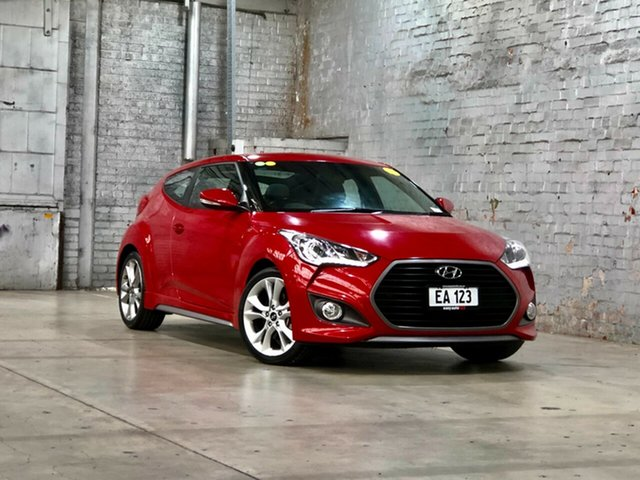 Used Hyundai Veloster FS3 SR Coupe Turbo Mile End South, 2014 Hyundai Veloster FS3 SR Coupe Turbo Red 6 Speed Sports Automatic Hatchback