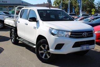 2016 Toyota Hilux GUN136R SR Double Cab 4x2 Hi-Rider White 6 Speed Sports Automatic Utility.