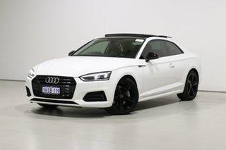 2018 Audi A5 F5 MY18 2.0 TFSI Quattro S Tronic Sprt White 7 Speed Auto Dual Clutch Coupe.