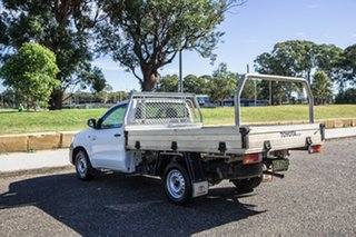 2012 Toyota Hilux TGN16R MY12 Workmate 4x2 White 5 Speed Manual Cab Chassis