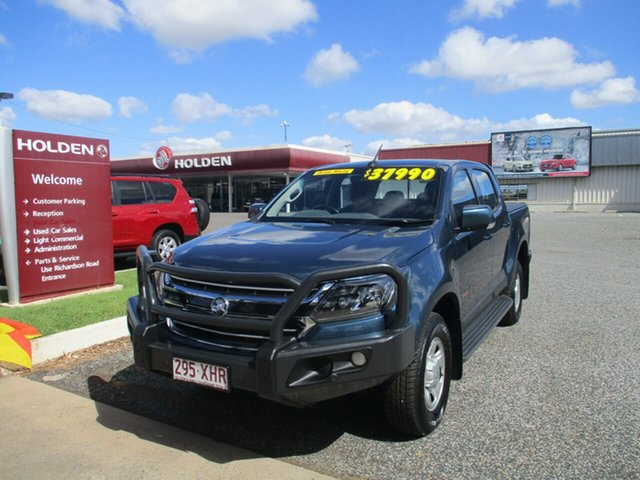 Used Holden Colorado RG MY17 LS Crew Cab North Rockhampton, 2016 Holden Colorado RG MY17 LS Crew Cab Blue 6 Speed Manual Cab Chassis