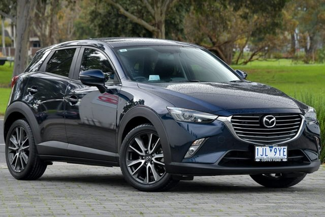 Used Mazda CX-3 DK2W7A sTouring SKYACTIV-Drive Dandenong, 2016 Mazda CX-3 DK2W7A sTouring SKYACTIV-Drive Blue 6 Speed Sports Automatic Wagon