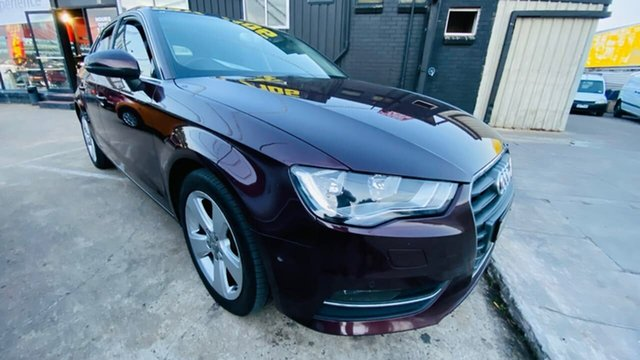 Used Audi A3 8V MY15 Attraction Sportback S Tronic Maidstone, 2014 Audi A3 8V MY15 Attraction Sportback S Tronic Maroon 7 Speed Sports Automatic Dual Clutch
