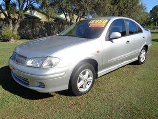 2002 Nissan Pulsar N16 Q Silver 4 Speed Automatic Sedan.
