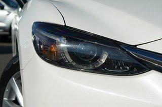 2014 Mazda 6 GJ1031 MY14 Touring SKYACTIV-Drive White 6 Speed Sports Automatic Sedan.