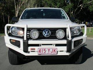 2012 Volkswagen Amarok 2H MY13 TDI400 4Mot White 6 Speed Manual Utility.