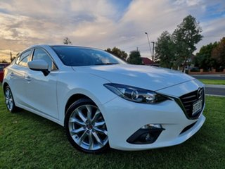 2016 Mazda 3 BN5238 SP25 SKYACTIV-Drive White 6 Speed Sports Automatic Sedan.