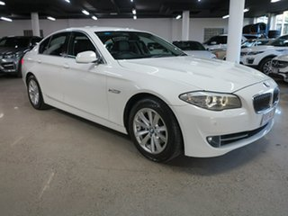 2012 BMW 5 Series F10 MY0712 520i Steptronic White 8 Speed Sports Automatic Sedan.