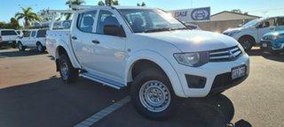 2013 Mitsubishi Triton MN MY13 GLX Double Cab 4x2 White 5 Speed Manual Utility.