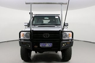 2013 Toyota Landcruiser VDJ79R MY12 Update GXL (4x4) Silver 5 Speed Manual Double Cab Chassis.
