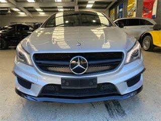2013 Mercedes-Benz CLA-Class C117 CLA45 AMG Silver Sports Automatic Dual Clutch Coupe.