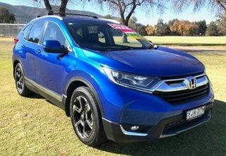 2017 Honda CR-V RW MY18 VTi-L FWD Blue 1 Speed Constant Variable Wagon.