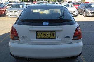 1997 Ford Laser KJ III (KM) GLXi White 5 Speed Manual Hatchback