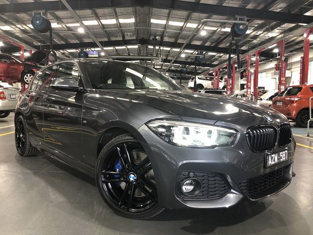 Pre-Owned BMW 1 Series F20 LCI-2 125i M Sport Shadow Edition Oakleigh, 2019 BMW 1 Series F20 LCI-2 125i M Sport Shadow Edition Mineral Grey 8 Speed Sports Automatic