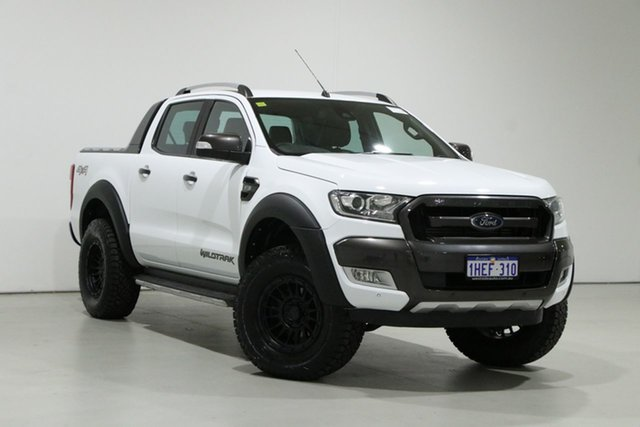 Used Ford Ranger PX MkII MY17 Wildtrak 3.2 (4x4) Bentley, 2017 Ford Ranger PX MkII MY17 Wildtrak 3.2 (4x4) White 6 Speed Automatic Dual Cab Pick-up