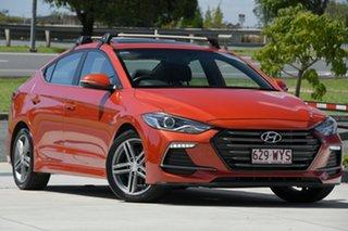 2016 Hyundai Elantra AD MY17 SR DCT Turbo Orange 7 Speed Sports Automatic Dual Clutch Sedan.