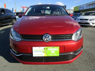 2015 Volkswagen Polo 6R MY16 81TSI DSG Comfortline Red 7 Speed Sports Automatic Dual Clutch