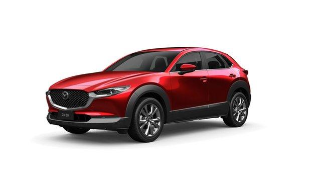 New Mazda CX-30 DM4WLA G25 SKYACTIV-Drive i-ACTIV AWD Astina Toowoomba, 2021 Mazda CX-30 DM4WLA G25 SKYACTIV-Drive i-ACTIV AWD Astina Soul Red Crystal 6 Speed