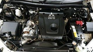 2018 Mitsubishi Triton MQ MY18 Blackline Double Cab White 5 Speed Sports Automatic Utility