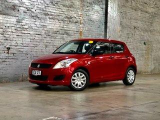 2012 Suzuki Swift FZ GA Red 4 Speed Automatic Hatchback.