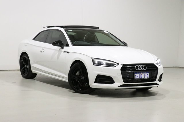 Used Audi A5 F5 MY18 2.0 TFSI Quattro S Tronic Sprt Bentley, 2018 Audi A5 F5 MY18 2.0 TFSI Quattro S Tronic Sprt White 7 Speed Auto Dual Clutch Coupe