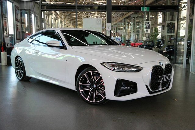 Used BMW 4 Series G22 420i Steptronic M Sport North Melbourne, 2021 BMW 4 Series G22 420i Steptronic M Sport White 8 Speed Sports Automatic Coupe