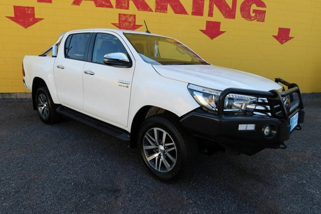 Used Toyota Hilux GUN126R SR5 Double Cab Winnellie, 2018 Toyota Hilux GUN126R SR5 Double Cab White 6 Speed Sports Automatic Utility