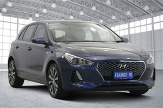 2018 Hyundai i30 PD2 MY18 Trophy Stargazing Blue 6 Speed Sports Automatic Hatchback.