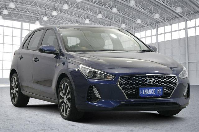 Used Hyundai i30 PD2 MY18 Trophy Victoria Park, 2018 Hyundai i30 PD2 MY18 Trophy Stargazing Blue 6 Speed Sports Automatic Hatchback