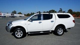 2011 Mitsubishi Triton MN MY11 GLX-R Double Cab White 5 Speed Manual Utility