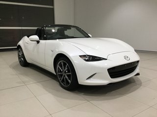 2020 Mazda MX-5 ND GT SKYACTIV-Drive Snowflake White 6 Speed Sports Automatic Roadster.