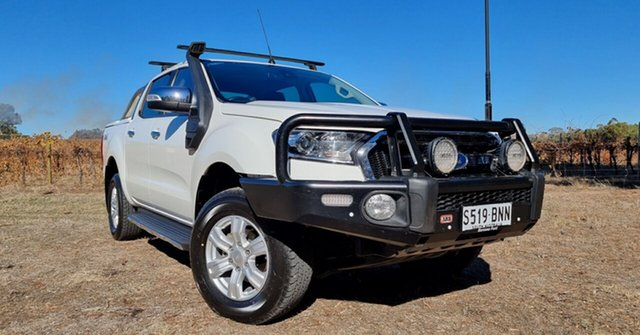 Used Ford Ranger PX MkII XLT Double Cab Nuriootpa, 2016 Ford Ranger PX MkII XLT Double Cab White 6 Speed Sports Automatic Utility