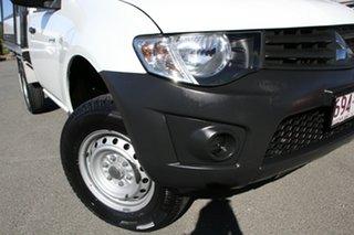 2013 Mitsubishi Triton MN MY14 GL 4x2 White Solid 5 Speed Manual Cab Chassis.