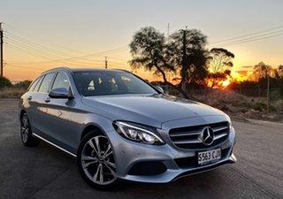 2017 Mercedes-Benz C-Class S205 807+057MY C200 d Estate 7G-Tronic + Diamond Silver 7 Speed.