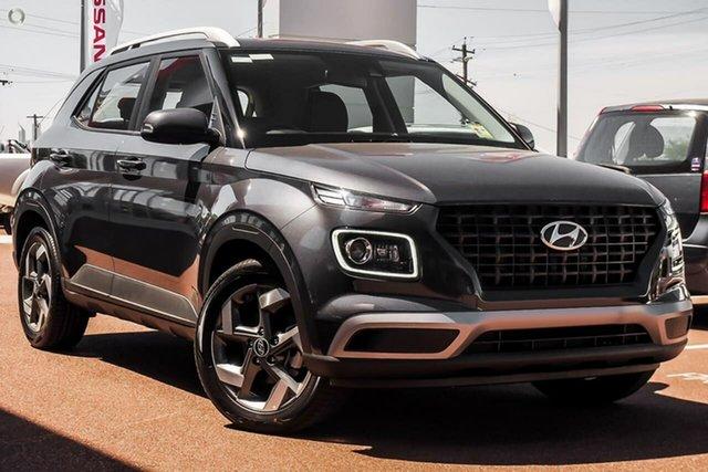 New Hyundai Venue QX.V3 MY21 Active Oakleigh, 2021 Hyundai Venue QX.V3 MY21 Active Grey 6 Speed Automatic Wagon