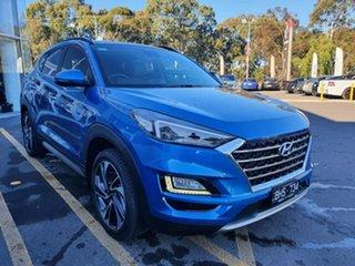 2020 Hyundai Tucson TL3 MY20 Highlander D-CT AWD Blue 7 Speed Sports Automatic Dual Clutch Wagon.