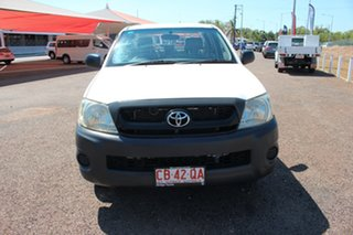 2009 Toyota Hilux TGN16R MY09 Workmate 4x2 Glacier White 5 Speed Manual Utility.