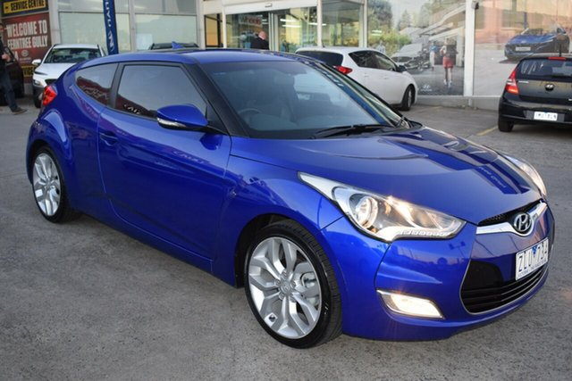 Used Hyundai Veloster FS Coupe Ferntree Gully, 2012 Hyundai Veloster FS Coupe Blue 6 Speed Manual Hatchback