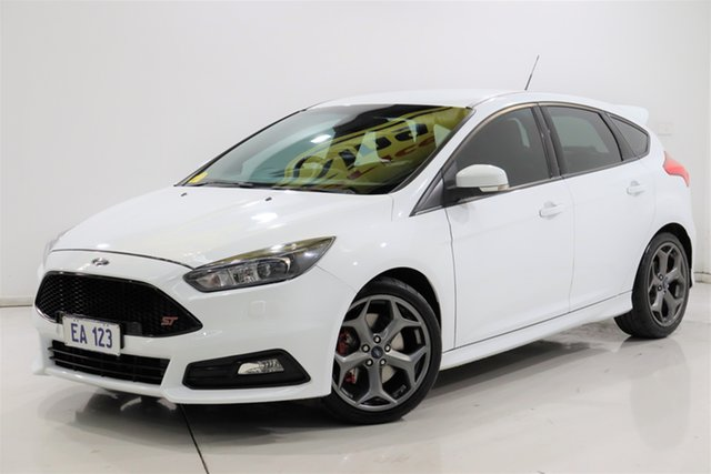Used Ford Focus LZ ST Brooklyn, 2015 Ford Focus LZ ST White 6 Speed Manual Hatchback