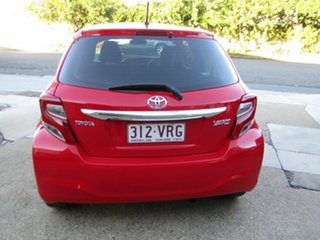 2015 Toyota Yaris NCP130R Ascent Red 4 Speed Automatic Hatchback.