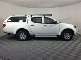 2012 Mitsubishi Triton MN MY13 GL-R Double Cab White 5 Speed Manual Utility