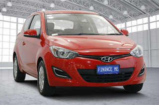 2013 Hyundai i20 PB MY13 Active Electric Red 6 Speed Manual Hatchback.