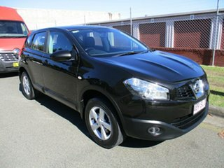 2012 Nissan Dualis J10W Series 3 MY12 ST Hatch X-tronic 2WD Black 6 Speed Constant Variable.